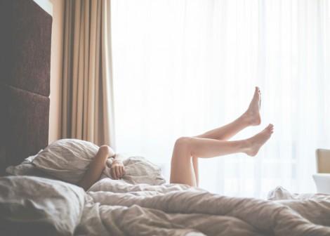 Women in bed fun