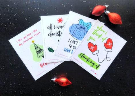 Naughty Christmas Cards free printable