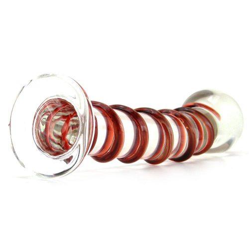 Mr Swirly Glass wand bottom view