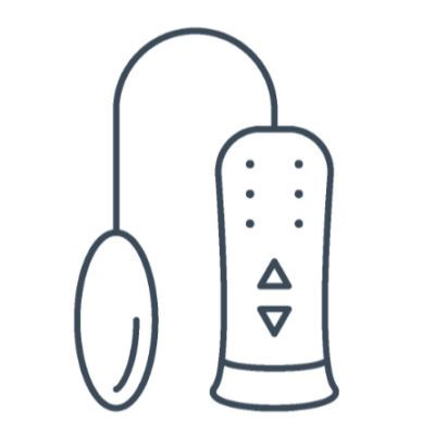 Egg-shaped bullet icon