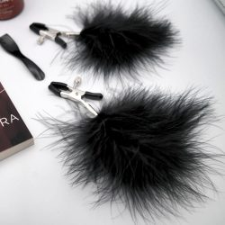 Feathered nipple clamps in Stiff Peaks Quickie Box