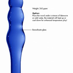 Chrystalino Lollypop Glass Dildo