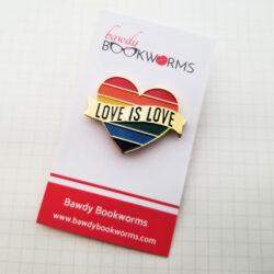 Love is Love Pride Heart Pin